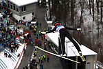 FIS Ski Jumping World Cup - 4 Hills Tournament 2019 in Innsvruck on January 4, 2019; Ski jumper in action above the crowd