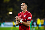 10.11.2018, Signal Iduna Park, Dortmund, GER, 1.FBL, Borussia Dortmund vs FC Bayern M&uuml;nchen, DFL REGULATIONS PROHIBIT ANY USE OF PHOTOGRAPHS AS IMAGE SEQUENCES AND/OR QUASI-VIDEO<br /> <br /> im Bild | picture shows:<br /> Sandro Wagner (Bayern #2) bedankt sich nach dem Spiel bei den mitgereisten Fans, <br /> <br /> Foto &copy; nordphoto / Rauch