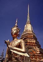 Ginaree figure half human half deer Wat Phra Keo Grand Palace Bangkok Thailand