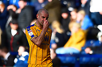 Wigan Athletic's Darron Gibson walks off after being shown a red card<br /> <br /> Photographer Richard Martin-Roberts/CameraSport<br /> <br /> The EFL Sky Bet Championship - Preston North End v Wigan Athletic - Saturday 6th October 2018 - Deepdale Stadium - Preston<br /> <br /> World Copyright &not;&copy; 2018 CameraSport. All rights reserved. 43 Linden Ave. Countesthorpe. Leicester. England. LE8 5PG - Tel: +44 (0) 116 277 4147 - admin@camerasport.com - www.camerasport.com