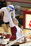 Conley Kipp (#19) is shown during a Washington State volleyball match at Bohler Gym in Pullman, Washington, on September 11, 2009.