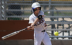 Western Nevada College's Jenny Rechel hits against the College of Southern Nevada on Friday, May 2, 2014, in Carson City, Nev.<br /> Photo by Cathleen Allison/Nevada Photo Source