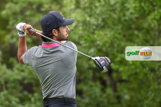 Abraham Ancer (MEX) watches his tee shot on 1 during day 4 of the Valero Texas Open, at the TPC San Antonio Oaks Course, San Antonio, Texas, USA. 4/7/2019.<br /> Picture: Golffile | Ken Murray<br /> <br /> <br /> All photo usage must carry mandatory copyright credit (© Golffile | Ken Murray)
