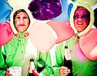 peru, mejia, carnival, celebration, costumes, coastal, deface, vandalize, paint people, youth, candid, south america