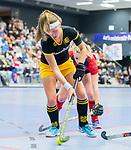 ROTTERDAM  - NK Zaalhockey,   halve finale dames Laren-Den Bosch. Laren wint. Danique van der Veerdonk (Den Bosch)   COPYRIGHT KOEN SUYK