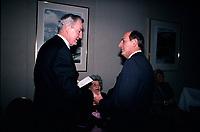 April 1988 File Photo - Paul Desmarais (L) and Charles Bronfman (R)<br /> <br /> Desmarais passed away October 2013