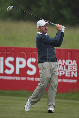 02.06.2012 Newport Wales. Rich Beem (USA) in action on Day 3 of the ISPS Handa Wales Open from Celtic Manor.