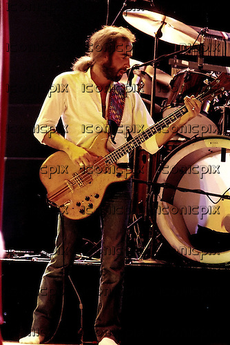 Fleetwood Mac - bass player guitarist John McVie performing live on the Tusk Tour at Wembley Arena in London UK - 19 Jun 1980.  Photo credit: Alan Perry/IconicPix