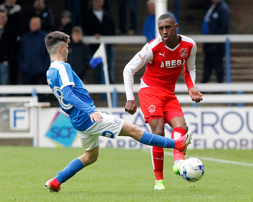 Fleetwood Town's Amari'i Bell plays round Peterborough United's Andrea Borg<br /> <br /> Photographer David Shipman/CameraSport<br /> <br /> The EFL Sky Bet League One - Peterborough United v Fleetwood Town - Friday 14th April 2016 - ABAX Stadium  - Peterborough<br /> <br /> World Copyright &copy; 2017 CameraSport. All rights reserved. 43 Linden Ave. Countesthorpe. Leicester. England. LE8 5PG - Tel: +44 (0) 116 277 4147 - admin@camerasport.com - www.camerasport.com