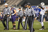 SAN FRANCISCO, CA - December 27, 2013: The 2013 Kraft Fight Hunger Bowl; Washington Huskies and the BYU Cougars at AT&T Park in San Francisco, California. Final score Washington Huskies 31, BYU Cougars 16.