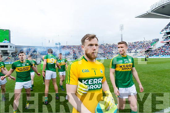 Brendan Kealy and Denis DalyKerry players celebrate after defeating Dublin at the National League Final in Croke Park on Sunday.