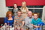 Gavin Lynch, Derrymore East, Tralee (seated 2nd lt) celebrated his 26th birthday last Sunday evening in Cassidy's, Tralee along with family (seated) l-r: Pauline, Gavin, Michael and Jamie Lynch. Back l-r: Isabelle Lynch with Samantha Quirke.