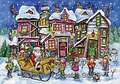 Interlitho-Dani, CHRISTMAS SANTA, SNOWMAN, WEIHNACHTSMÄNNER, SCHNEEMÄNNER, PAPÁ NOEL, MUÑECOS DE NIEVE, paintings+++++,crooked house,KL6174,#x#
