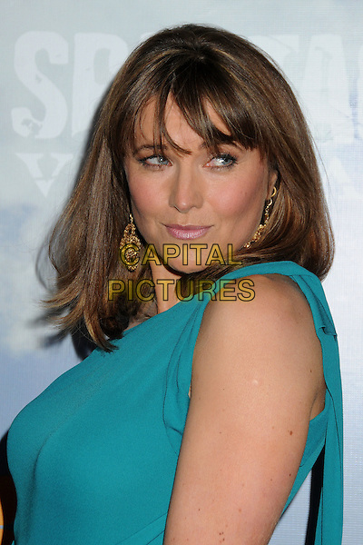 "Lucy Lawless.""Spartacus: Vengeance"" Premiere Screening held at Arclight Cinemas, Hollywood, California, USA..January 18th, 2012.headshot portrait blue teal side .CAP/ADM/BP.©Byron Purvis/AdMedia/Capital Pictures."