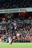 Collin Quaner of Huddersfield Town collects the pass during the Premier League match between Arsenal and Huddersfield Town at the Emirates Stadium, London, England on 29 November 2017. Photo by Carlton Myrie / PRiME Media Images.
