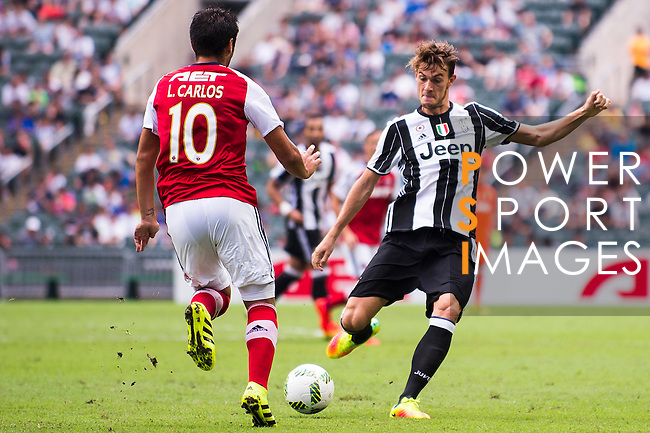 Juventus' player Daniele Rugani in action during the South China vs Juventus match of the AET International Challenge Cup on 30 July 2016 at Hong Kong Stadium, in Hong Kong, China.  Photo by Marcio Machado / Power Sport Images
