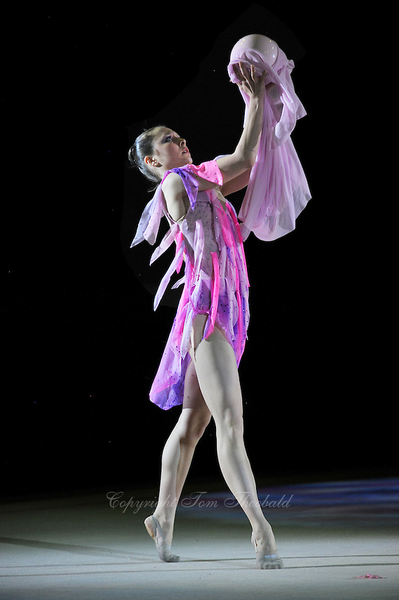 Silviya Miteva of Bulgaria performs gala exhibition at 2011 World Cup at Portimao, Portugal on May 01, 2011.  .