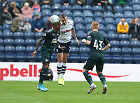 Preston North End's Patrick Bauer battles with Newcastle United's Ronaldo Aarons<br /> <br /> Photographer Stephen White/CameraSport<br /> <br /> Football Pre-Season Friendly - Preston North End v Newcastle United - Saturday July 27th 2019 - Deepdale Stadium - Preston<br /> <br /> World Copyright © 2019 CameraSport. All rights reserved. 43 Linden Ave. Countesthorpe. Leicester. England. LE8 5PG - Tel: +44 (0) 116 277 4147 - admin@camerasport.com - www.camerasport.com