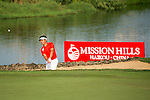 Man Wenjun plays during the World Celebrity Pro-Am 2016 Mission Hills China Golf Tournament on 23 October 2016, in Haikou, Hainan province, China. Photo by Marcio Machado / Power Sport Images