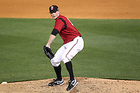 Nashville Sounds pitcher Justin James #17 delivers a pitch during a game against the Omaha Storm Chasers at Greer Stadium on April 25, 2011 in Nashville, Tennessee.  Omaha defeated Nashville 2-1.  Photo By Mike Janes/Four Seam Images