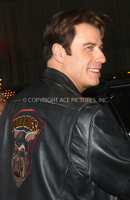 WWW.ACEPIXS.COM . . . . .....February 22 2007, New York City....Actor John Travolta made an appearance at MTV's TRL show in Times Square, Midtown Manhattan. He is in town to promote his new movie 'Wild Hogs'.......  ....Please byline: Kristin Callahan - ACEPIXS.COM..... *** ***..Ace Pictures, Inc:  ..Philip Vaughan (646) 769 0430..e-mail: info@acepixs.com..web: http://www.acepixs.com