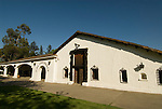 Chile Wine Country: Undurraga Winery, Vina Undurraga, near Santiago.  Horizontal of white, historic winery building.  .Photo #: ch411-33884..Photo copyright Lee Foster, 510-549-2202, www.fostertravel.com, lee@fostertravel.com.