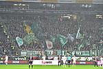 06.10.2019, Commerzbankarena, Frankfurt, GER, 1. FBL, Eintracht Frankfurt vs. SV Werder Bremen, <br /> <br /> DFL REGULATIONS PROHIBIT ANY USE OF PHOTOGRAPHS AS IMAGE SEQUENCES AND/OR QUASI-VIDEO.<br /> <br /> im Bild: Die Bremer Fans<br /> <br /> Foto © nordphoto / Fabisch