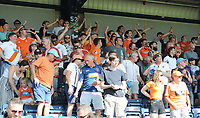 Blackpool fans applaud their team at the final whistle <br /> <br /> Photographer Kevin Barnes/CameraSport<br /> <br /> The EFL Sky Bet League One - Wycombe Wanderers v Blackpool - Saturday 4th August 2018 - Adams Park - Wycombe<br /> <br /> World Copyright &copy; 2018 CameraSport. All rights reserved. 43 Linden Ave. Countesthorpe. Leicester. England. LE8 5PG - Tel: +44 (0) 116 277 4147 - admin@camerasport.com - www.camerasport.com