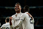 Real Madrid's Carlos Henrique Casemiro celebrates goal during Copa Del Rey match between Real Madrid and CD Leganes at Santiago Bernabeu Stadium in Madrid, Spain. January 09, 2019. (ALTERPHOTOS/A. Perez Meca)