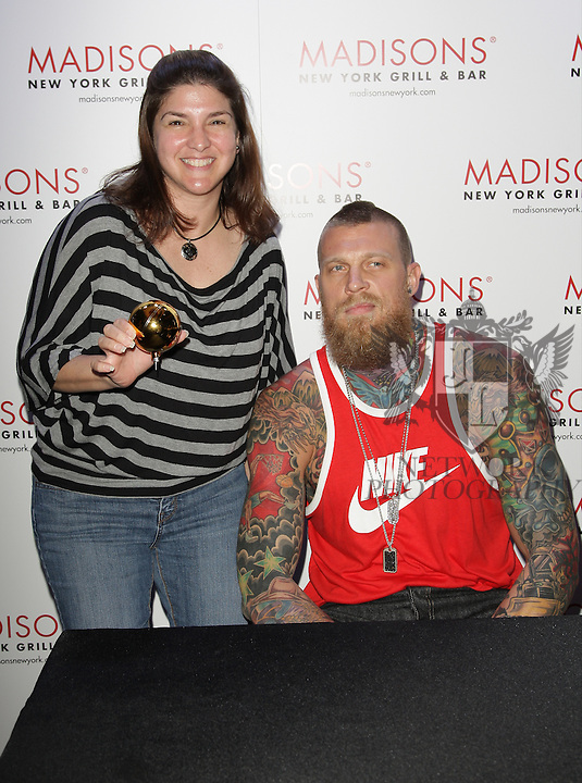 """BOCA RATON, FL - JUNE 27: Chris """"Birdman"""" Andersen attends meet and greet with fans at Madisons New York Grill & Bar on June 26, 2014 in Boca Raton, Florida. (Photo by Johnny Louis/jlnphotography.com)"""