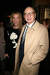 Neil Simon and wife Elaine Joyce Attending the Opening night performance of Neil Simon's THE ODD COUPLE at the Brooks Atkinson Theatre in New York City.<br />