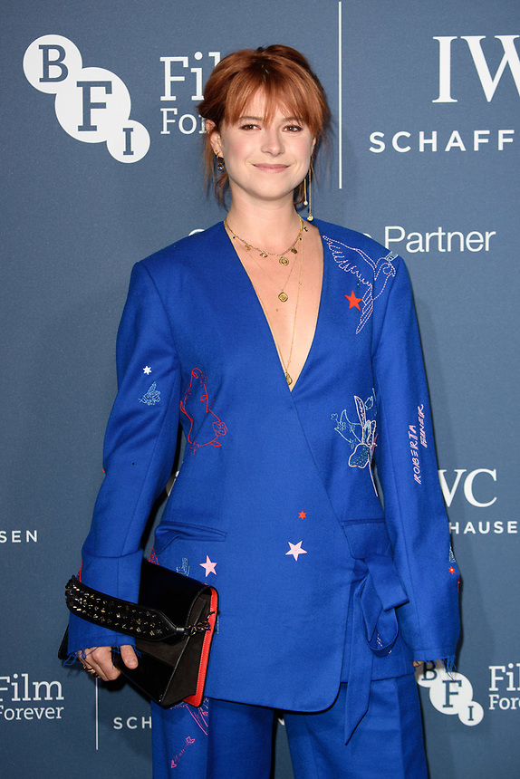 Jessie Buckley<br /> arriving for the 2018 IWC Schaffhausen Gala Dinner in Honour of the BFI at the Electric Light Station, London<br /> <br /> ©Ash Knotek  D3437  09/10/2018