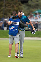 26th January 2020, Torrey Pines, La Jolla, San Diego, CA USA;  Marc Leishman hugs his caddie after finishing the final round of the Farmers Insurance Open at Torrey Pines Golf Club on January 26, 2020 in La Jolla, California.