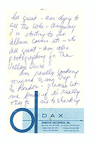 BNPS.co.uk (01202 558833)<br /> Pic: ChiswickAuctions/BNPS<br /> <br /> A rare letter by the late Linda McCartney in which was confesses to pining for an ex-boyfriend at the start of her relationship with Sir Paul McCartney has been discovered.<br /> <br /> Before she met the Beatle and future husband in May 1967, Linda had been in a relationship with the English actor Del Henney.<br /> <br /> Although they broke up some months before, Linda remained in contact with the Liverpudlian actor.<br /> <br /> In the letter that is now being sold by Chiswick Auctions Linda wrote how she wished she could get Del out of her life.