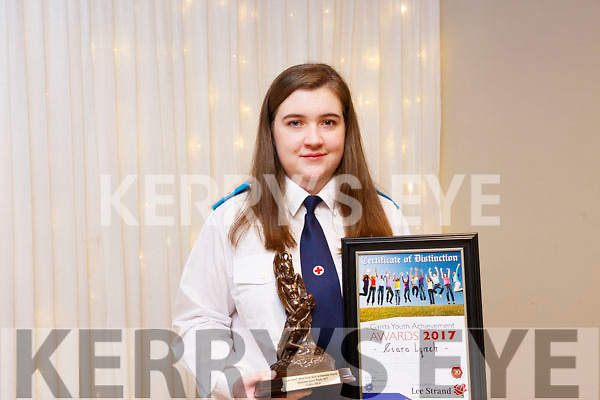 Ciara Lynch of Caherlaheen who received a Special Distinction award at the Kerry Garda Lee Strand Youth Achievements Awards held in the Ballyroe Heights Hotel on Friday night last.