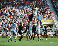 Maro Itoje of Saracens secures the lineout ball during the Aviva Premiership Rugby Final between Exeter Chiefs and Saracens at Twickenham Stadium on Saturday 26th May 2018 (Photo by Rob Munro/Stewart Communications)