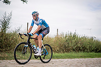 Nils Politt (DEU/Israel - StartUp Nation)<br /> <br /> reconnaissance of the (delayed, due to the Covid19 pandemic) Paris-Roubaix course by Team Israel - StartUp Nation <br /> <br /> Nord-Pas de Calais region (FRA), 17 july 2020<br /> ©kramon