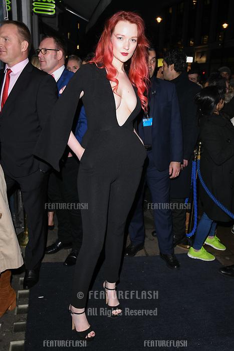 Victoria Clay arriving for James Ingham's Jog on to Cancer 2018 at Cafe de Paris, London, UK. <br /> 04 April  2018<br /> Picture: Steve Vas/Featureflash/SilverHub 0208 004 5359 sales@silverhubmedia.com