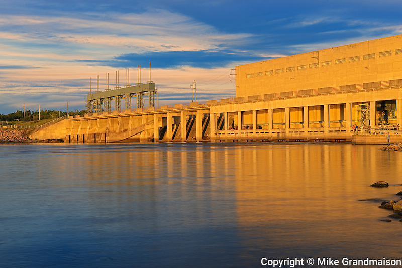 Hydro electric dam on the Winnipeg River<br /> Pine Falls<br /> Manitoba<br /> Canada