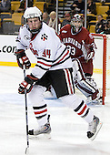 Tyler McNeely (NU - 94) - The Harvard University Crimson defeated the Northeastern University Huskies 3-1 on Monday, February 4, 2008, in the opening game of the 2008 Beanpot at TD Banknorth Garden in Boston, Massachusetts.