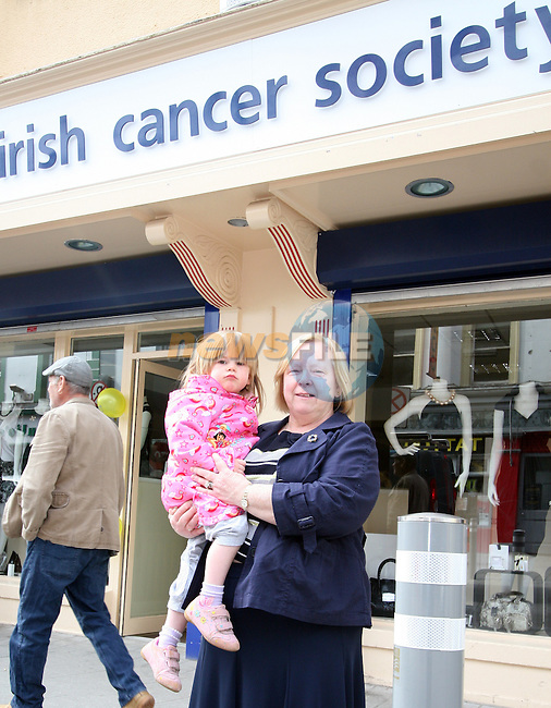Shop Manager Sheelagh Sheridan with her granddaughter Amy at the Opening of the new Cancer Shop in the Abbey Shopping Centre...Photo NEWSFILE/Jenny Matthews.(Photo credit should read Jenny Matthews/NEWSFILE)....This Picture has been sent you under the condtions enclosed by:.Newsfile Ltd..The Studio,.Millmount Abbey,.Drogheda,.Co Meath..Ireland..Tel: +353(0)41-9871240.Fax: +353(0)41-9871260.GSM: +353(0)86-2500958.email: pictures@newsfile.ie.www.newsfile.ie.FTP: 193.120.102.198.
