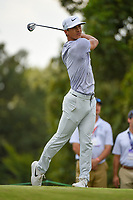 Thorbjorn Olesen (DEN) watches his tee shot on 9 during round 3 of the WGC FedEx St. Jude Invitational, TPC Southwind, Memphis, Tennessee, USA. 7/27/2019.<br /> Picture Ken Murray / Golffile.ie<br /> <br /> All photo usage must carry mandatory copyright credit (© Golffile | Ken Murray)