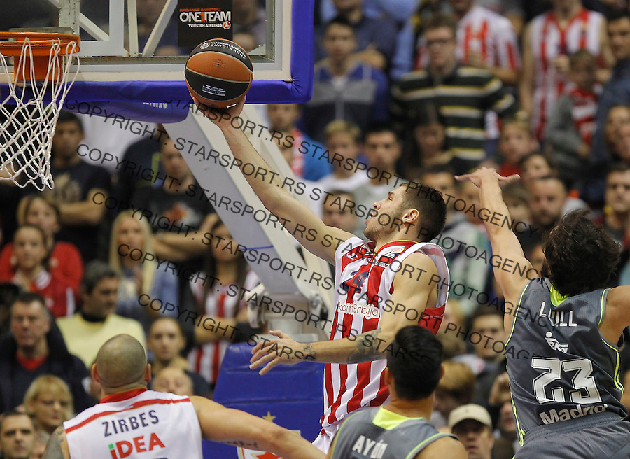 Kosarka Euroleague season 2015-2016<br /> Euroleague <br /> Crvena Zvezda v Real Madrid<br /> Stefan Jovic and Sergio Llull (R)<br /> Beograd, 27.11.2015.<br /> foto: Srdjan Stevanovic/Starsportphoto &copy;