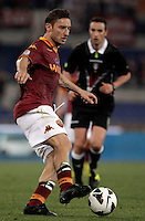 Calcio, Serie A: Roma vs Chievo Verona, Stadio Olimpico, , 7 maggio  2013..AS Roma forward Francesco Totti in action during the Italian serie A football match between Roma and ChievoVerona at Rome's Olympic stadium, 7 maggio  2013..UPDATE IMAGES PRESS/Isabella Bonotto