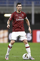 Alessio Romagnoli of AC Milan during the Serie A football match between AC Milan and Bologna FC at stadio Giuseppe Meazza in Milano ( Italy ), July 18th, 2020. Play resumes behind closed doors following the outbreak of the coronavirus disease. <br /> Photo Image Sport / Insidefoto