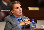 Nevada Assemblyman Brent Jones, R-Las Vegas, works in committee at the Legislative Building in Carson City, Nev., on Friday, April 10, 2015. <br /> Photo by Cathleen Allison