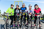 Enjoying the The Fenit Coastal Cycle in aid of St. Brendan's National School on Saturday were Noreen O'Leary, Sheila Kelly, Eoin Porter, Morna O'Halloran and Ina McGrath