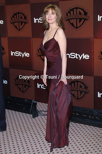 Susan Sarandon arriving at the Golden Globes after Party InStyle / Warner at the Beverly Hilton in Los Angeles. January 25, 2004.