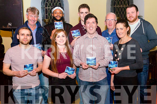 "Cathal Dowd from Killorglin promoting his new CD ""Friendly Shores with performance at Sol Y Sombra, Killorglin last Thursday night. Pictured with front l-r James Touhy from Killorglin, Caoimhe Cronin O'Reilly from Killorglin, Cliodhna Foley from Killorglin, back l-r Frank Walsh from Cromane, Peter Njihia from Killarney who also was an opening act, Michael O'Sullivan from Killorglin, Mike Dowd  from Killlorglin and Peter Mullins from Killlorglin."