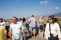 Tourists visiting Piazza Michelangelo, Florence, Italy, Europe, 2007, © Stephen Blake Farrington